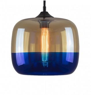 Dwukolorowa lampa wisząca London Loft 5 ze szklanym kloszem