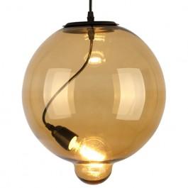 Szklana lampa wisząca Modern Glass Bubble w kolorze koniakowym