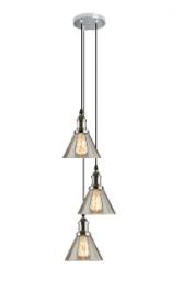 Potrójna lampa wisząca New York Loft 1 CO chromowana