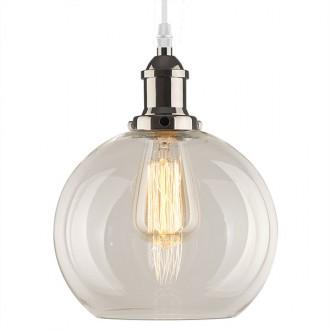 Lampa wisząca New York Loft 2 mosiężna z transparentnym kloszem
