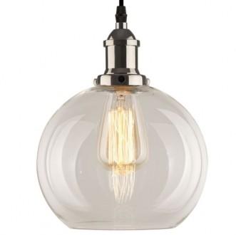 Lampa wisząca New York Loft 2 chromowana z transparentnym kloszem