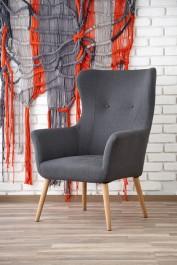 Tapicerowany fotel wypoczynkowy Cotto ciemny popiel
