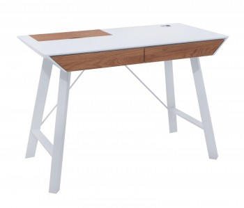 Lakierowane biurko ze schowkiem i szufladami Cleo