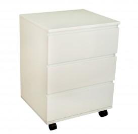 Biały kontenerek na kółkach w połysku JSGW-010W
