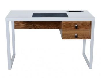 Lakierowane biurko z matą antypoślizgową Della