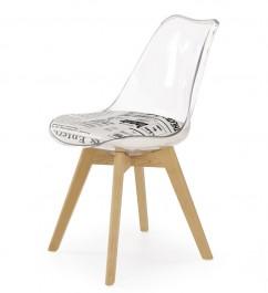Krzesło z motywem gazety na siedzisku K246