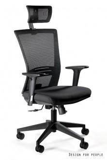 Krzesło biurowe z regulowanymi podłokietnikami Ergonic