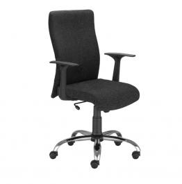 Tapicerowane krzesło pracownicze na kółkach Leon