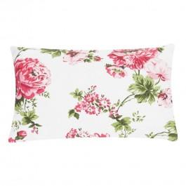 Dekoracyjna poduszka z kwiatowym printem Adithi Sand 30x50