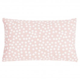 Dekoracyjna poduszka w groszki Allover Dots 30x50 różowa