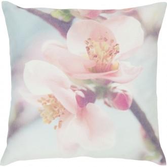 Pastelowa poduszka z kwiatowym motywem Cato 45x45