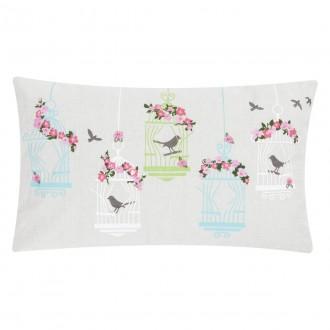 Dekoracyjna poduszka z motywem ptaków Free Bird 30x50 haft