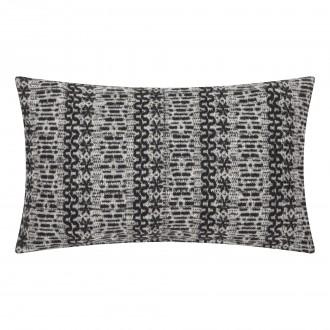 Wzorzysta poduszka New Nordic 30x50 czarno biała
