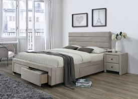 Tapicerowane łóżko z szufladami Kayleon