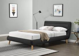 Tapicerowane tkaniną łóżko Elanda 140