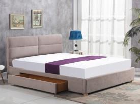 Łóżko z szufladą i tapicerowanym zagłówkiem Merida