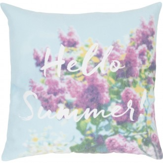Poduszka z kwiatami i ozdobnym napisem June 45x45