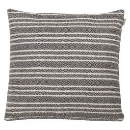 Dekoracyjna poduszka w paski Winford 45x45 biało czarna