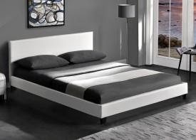 Tapicerowane ekoskórą łóżko Pago