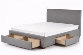 Tapicerowane łóżko z zagłówkiem i szufladami Modena 160