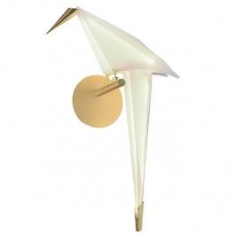 Metalowy kinkiet w kształcie ptaka Loro Wall Right