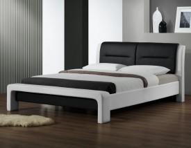 Tapicerowane ekoskórą łóżko z zagłówkiem Cassandra 160