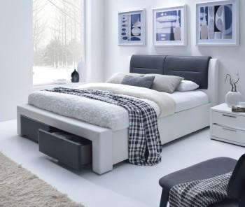 Łóżko z zagłówkiem i szufladami Cassandra S 160