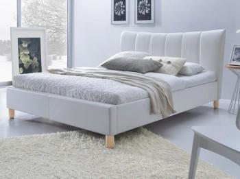 Tapicerowane łóżko z zagłówkiem Sandy