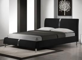 Nowoczesne łóżko tapicerowane ekoskórą Dakota