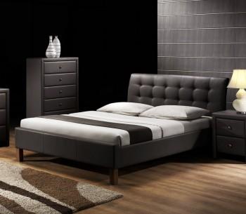 Łóżko z pikowanym zagłówkiem Samara