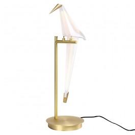 Metalowa lampka dekoracyjna w kształcie ptaka Loro Table