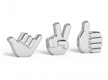 Metalowe stojaki na zdjęcia Handsup 3 w kształcie dłoni