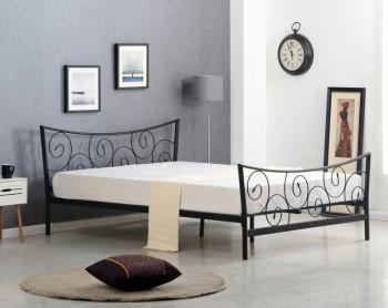 Łóżko na metalowej ramie Ramona