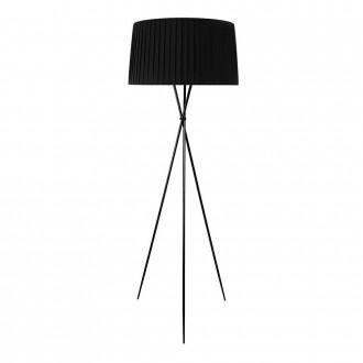 Lampa podłogowa ze stali węglowej Frill Black
