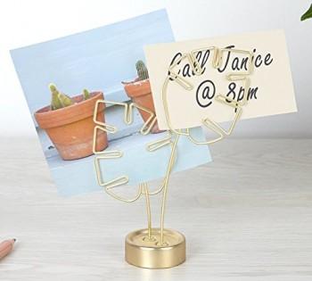 Metalowy stojak na zdjęcia Leaflet Brass