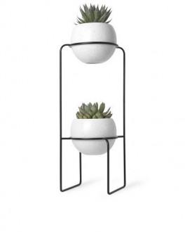 Dwupoziomowa doniczka ceramiczna na kwiaty Nesta
