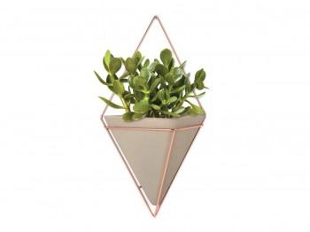 Ceramiczna doniczka ścienna na kwiaty Trigg