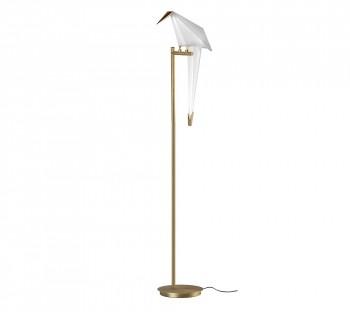 Lampa stojąca z kloszem w kształcie ptaka Loro Floor