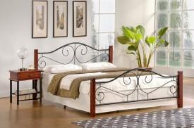 Metalowe łóżko z zagłówkiem Violetta 120