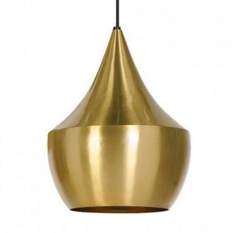 Lampa wisząca z aluminiowym kloszem Bet Shade Fat złota