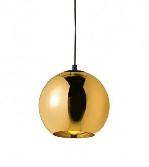 Lampa sufitowa z kloszem ze szkła metalizowanego Bolla Up Gold 35