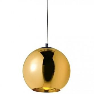 Lampa sufitowa z kloszem ze szkła metalizowanego Bolla Up Gold 40