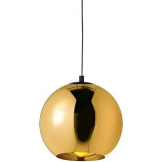 Lampa sufitowa z kloszem ze szkła metalizowanego Bolla Up Gold 45