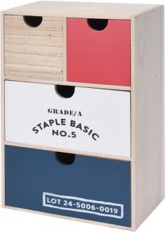 Drewniany organizer z szufladkami Riki I