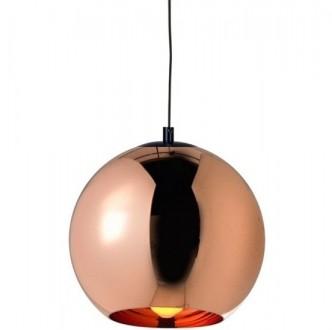 Lampa sufitowa ze szklanym kloszem Bolla Up Rose Gold 35