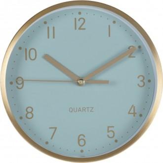 Okrągły zegar ścienny Time w miedzianej oprawie