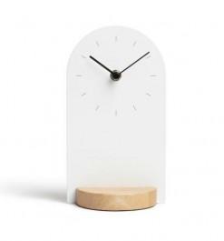 Zegar stojący Sometime na drewnianej podstawie