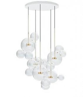 Lampa wisząca ze szklanymi kulami Capri Disc 5