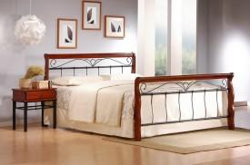 Metalowe łóżko z zagłówkiem Veronica 180