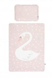 Różowa pościel Swan'derful z wypełnieniem